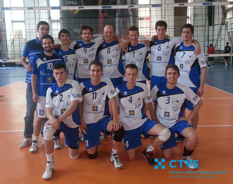 Účast volejbalových týmů školy v kvalifikaci na ČAH 2014