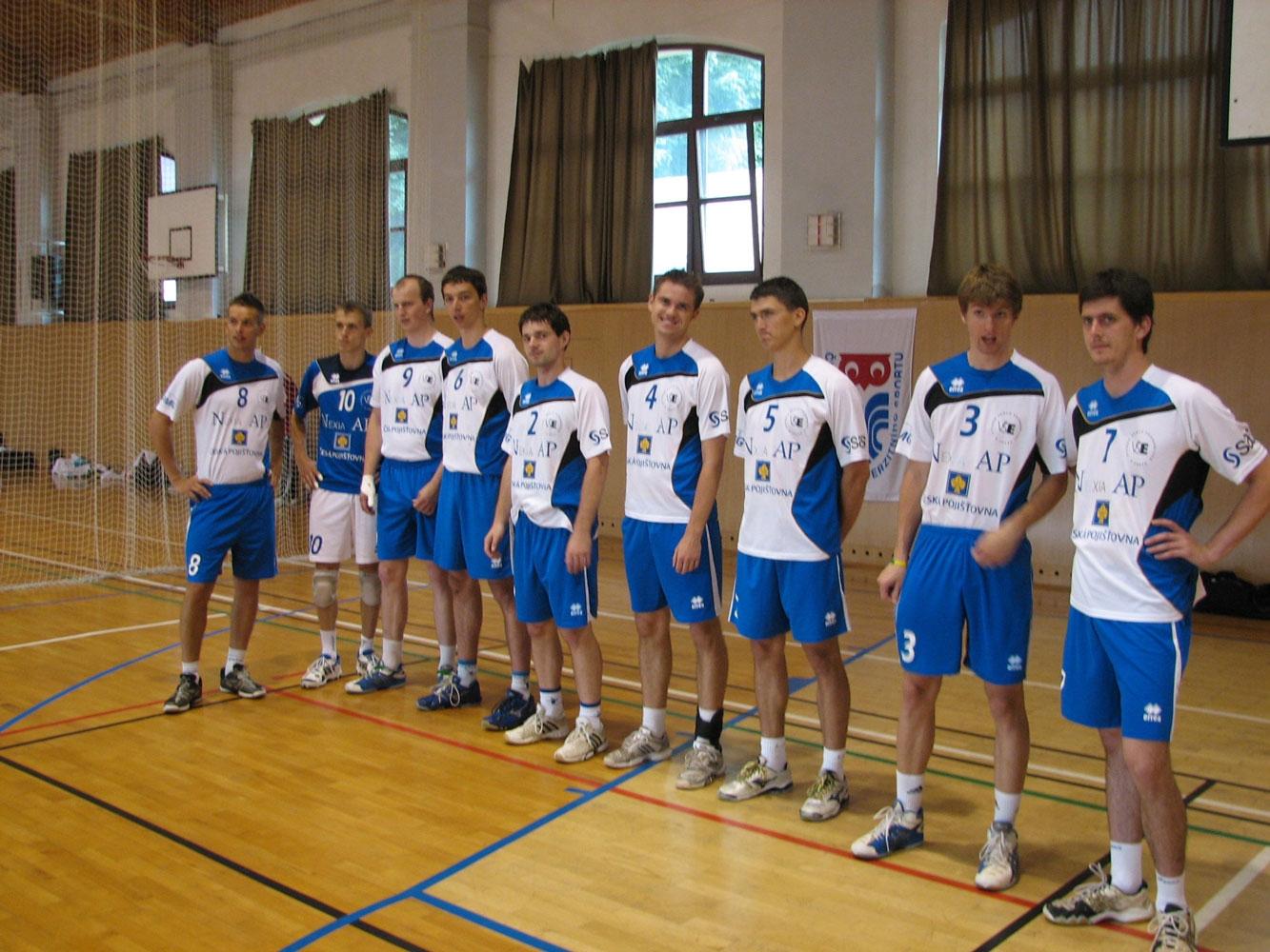 Reprezentační tým studentů volejbalistů na ČAH 2012