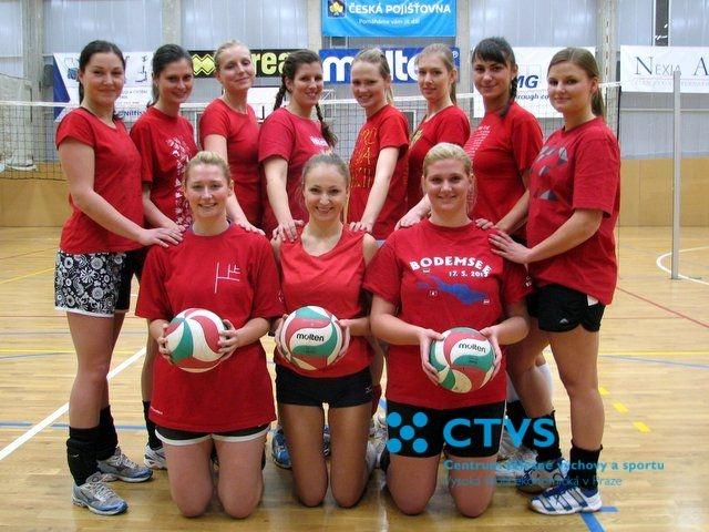 Volejbalistky školy v Pražské vysokoškolské volejbalové lize – tým VŠE ženy B