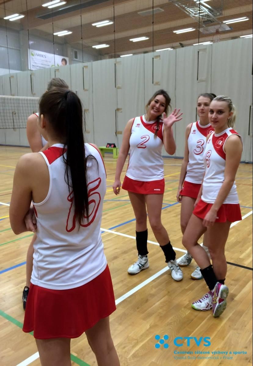 Studentky vybojovaly 1. místo v Pražské vysokoškolské volejbalové lize