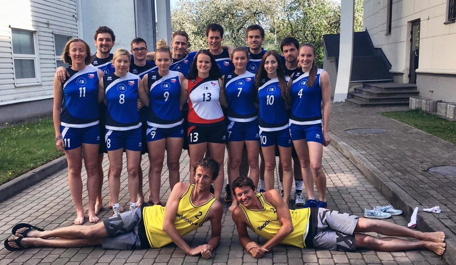 Volejbalová reprezentace v Rize. Stříbro přivezli beachvolejbalisté