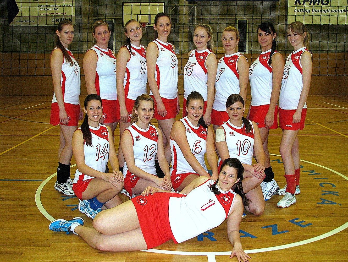 Studentky volejbalistky v soutěži Pražské vysokoškolské volejbalové ligy
