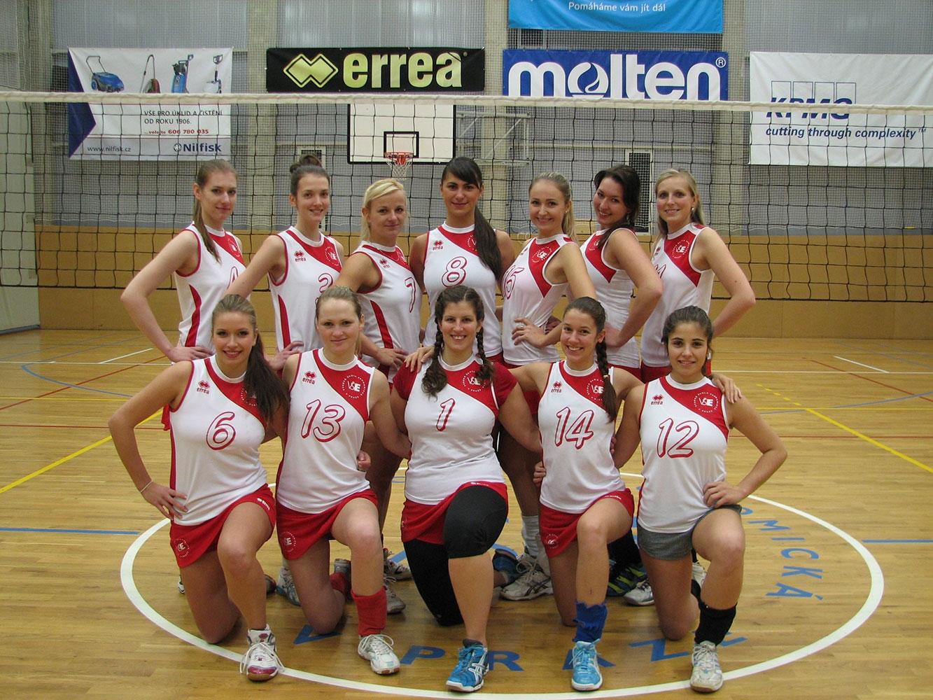 Reprezentace školy v Pražské vysokoškolské volejbalové lize v ak. roce 2014/2015