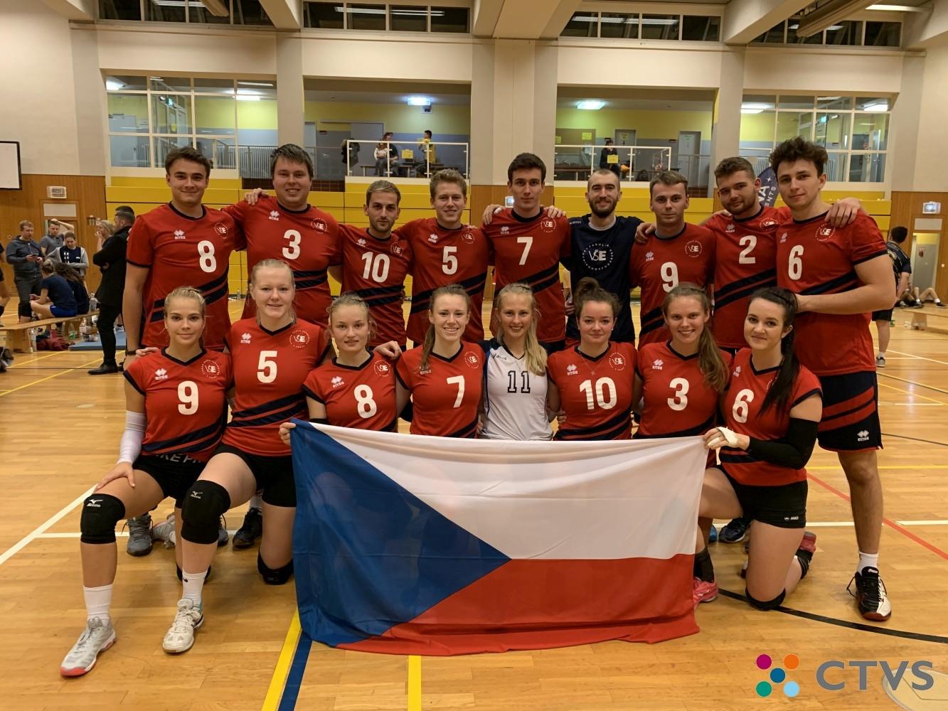 Volejbalové reprezentace VŠE na turnaji Euroijada 2019 v Berlíně